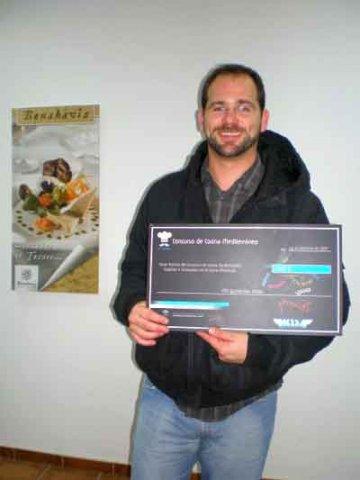 Alberto Romero Tejero ganador del tercer puesto en el concurso de cocina mediterránea